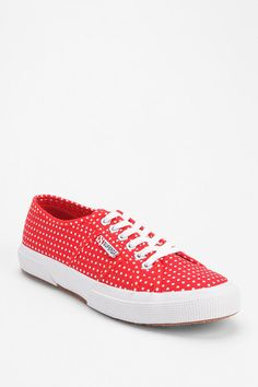 Superga Polka Dot Lace-Up Sneaker Classic Sneakers, Best Sneakers, Sneakers Women, Red Shoes, Me Too Shoes, Superga Shoes, Closet Accessories, Popular Shoes, Walk This Way