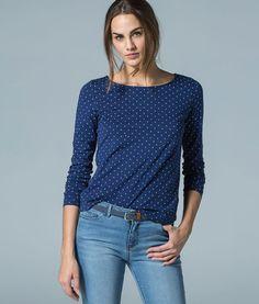 CAMISETA CORAZONES ALL OVER CON LAZO » Knitwear 2+1 EU » Woman » Springfield Man & Woman