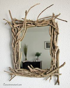 MATIN LUMINEUX: Bois flottés- Driftwood I would love to do this for the bathroom…