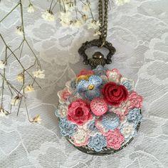 Handmade crochet watch necklace  Denizimsi - Etsy shop deniz_imsi - instagram