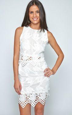 White Lace Grid Set
