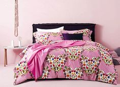 Special Fruit Design Pink 4-Piece Cotton Duvet Cover Sets #bedroom #pink