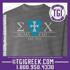 TGI Greek - Sigma Chi - PR Sweatshirt - #TGIgreek #sigmachi #comfortcolors
