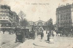 Past Life, Painting, Ile De France, Antique Post Cards, Antique Pictures, Old Paris, Train Station, History, Painting Art