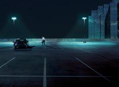 night parking lot - Google Search