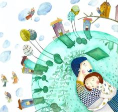 Az évszakok születése | Málnalevelek-mese Bird Coloring Pages, Naive, Illustrators, Photo Wall, Kids Rugs, Home Decor, Art, Art Background, Photograph