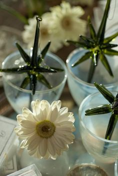 opaline glass  goblets & hand blown stars photo Heather Ross