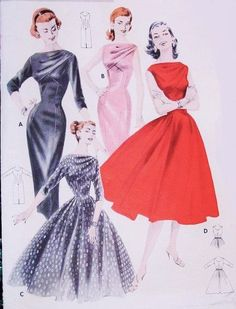 Hey, I found this really awesome Etsy listing at https://www.etsy.com/listing/212359882/50s-evening-dress-pattern-butterick-8038