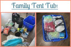 Family Tent Tub Camping List and several other camping and organizing lists for being ready to go on a whim! I will definitely be using these!!!