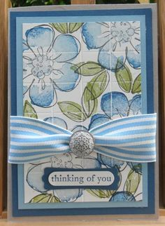 Flower Fancy Tiled Card by ChristieW - Cards and Paper Crafts at Splitcoaststampers