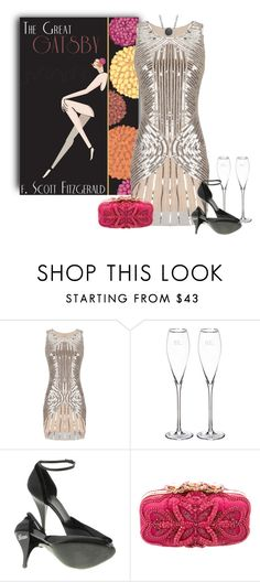 """F. Scott Fitzgerald - The Great Gatsby"" by kimzarad1 ❤ liked on Polyvore featuring Cathy's Concepts, Gucci, Oscar de la Renta and Alor"