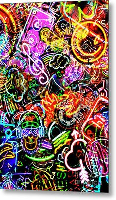 Neon Graffiti Metal Print by Jorgo Photography - Wall Art Gallery. All metal prints are professionally printed, packaged, and shipped within 3 - 4 business days and delivered ready-to-hang on your wall. Graffiti Wallpaper Iphone, Pop Art Wallpaper, Trippy Wallpaper, Cool Wallpapers Graffiti, Graffiti Wall Art, Graffiti Painting, Street Art Graffiti, Graffiti Artists, Graffiti Lettering