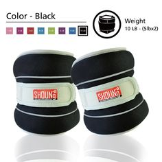 SHOUNg Reflective Ankle Weight / Wrist Weight with Adjustable Strap (Black, 10lbs). Suitable for Indoor, Outdoor or Gym Exercises & Fitness - Weight set for 2; Each one 5lbs. It goes well with other movements and can enhance the effect of workout. The Unique Reflective Line Guarantees Your Safety In The Dark - It can be reflected when lights spot on the reflection line in the dark. Adjustable Strap Ankle and Wrist Weights Set for Men, Women, and Kids - The weights can be put on hands or…