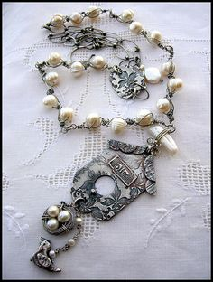 Feathered Friends Necklace by Diana Frey, via Flickr