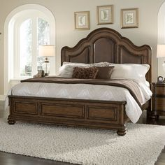 Pulaski Quentin Upholstered Panel Bed, Size: California King - HOMM840-3