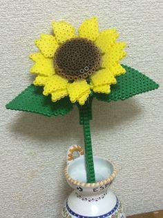 3D Sunflower perler beads
