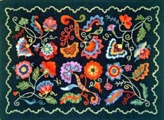 Delightful I Love Folklore Any Way, And These Hand Hooked Rugs With The Bright Colors  And