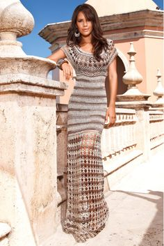Crochetemoda: Long Crochet Dress