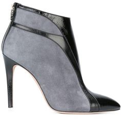 Francesca Mambrini ankle boots (2.495 BRL) ❤ liked on Polyvore featuring shoes, boots, ankle booties, grey, gray boots, short boots, leather bootie, gray booties and grey ankle booties