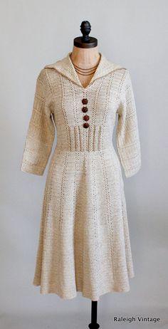1940s crocheted swing dress with a little sparkle. https://www.etsy.com/listing/115394028/vintage-1940s-dress-40s-crochet-knit