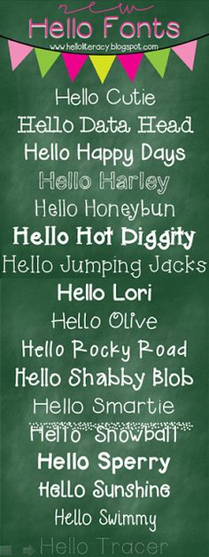 17 New Hello Fonts - Free for Download | from @hellojenjones