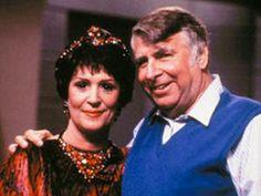 Majel and Gene Roddenberry on the set of Star Trek: TNG; I love Lwaxana troi!
