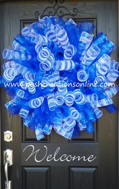 UK Wreath, University Of Kentucky, kentucky Wreath, Wildcat Wreath, UK Mesh Wreath, XXl. $55.00, via Etsy.
