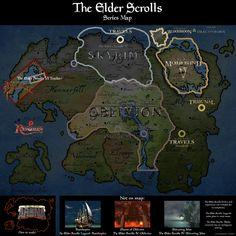 The Elder Scrolls Series Map [OC] - gaming Elder Scrolls Online Tips, Elder Scrolls Map, Elder Scrolls Memes, Elder Scrolls V Skyrim, Scrolls Game, Skyrim Map, Skyrim Funny, Fantasy Map, Final Fantasy