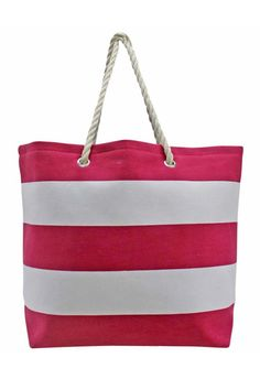 Wide Stripe Deluxe Oversize Beach Tote Bag