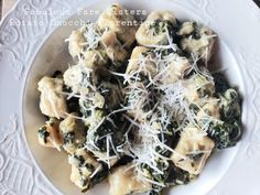 Potato Gnocchi Florentine – Fabulous Fare Sisters Making Gnocchi, Pecorino Cheese, Frozen Spinach, Dumpling, Spanakopita, Bite Size, Slow Cooker, Sisters, Potatoes