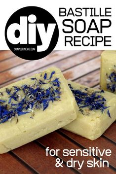 Bastille soap recipe for dry skin or sensitive skin. Get dry skin relief for your dry or sensitive skin by using a handcrafted, cold process Bastille soap bar. Learn how to craft this natural soap recipe is made with 80% olive oil for a hydrating, skin conditioning soap that won't strip skin of its beneficial oils that lead to dryness and itching. A modern twist on traditional Castile soap, this moisturizing Bastille soap recipe is the perfect option for your family's natural skin care routine.