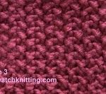 Pattern 2- simple knitting stitches