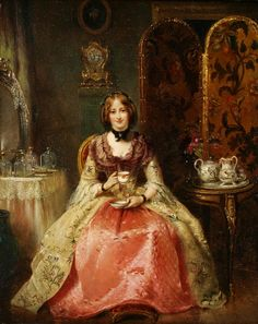 Henry Richard Graves - Portrait of Lady Dorothy Nevill