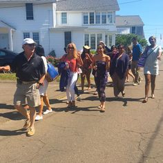 Sunday fun day at the beach! Leading the way, Dr. Katz followed by our beautiful JUVA team.