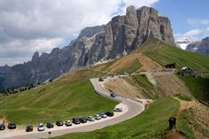 Passo Sella - Sella Group - Dolomite Mountains - Italy  The Sella Pass is a high mountain pass between the provinces of Trentino and South Tyrol in Italy. It connects the Val Gherdëina in South Tyrol and Canazei in the Fascia Valley in Trentino.