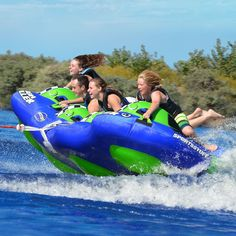 Hydroplane into fun on this four person towable tube. The High Roller 4 is designed for speed, fun and comfort. Get ready for fun! Water Sports Store, Sport Pool, Sports Nautiques, Water Tube, High Roller, Best Boats, Safety Valve, Pool Floats, Water Photography
