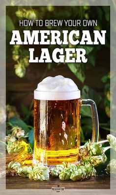 No matter how you feel about the American lager style, brewing your own is not an easy task. Here's our guide to help you learn how to brew your own American lager recipe at home. Brewing Recipes, Homebrew Recipes, Beer Recipes, Mead Recipe, Beer Maker, Pale Ale Beers, Brew Your Own, American Beer, Wheat Beer
