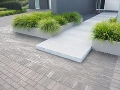Modern Landscaping, Outdoor Landscaping, Front Yard Landscaping, Back Gardens, Outdoor Gardens, Raised Patio, Patio Layout, Garden Paving, Pinterest Garden