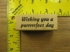 Wishing You A Purrrrfect Day Cat Saying Make An Impression Rubber Stamp 1797 | eBay