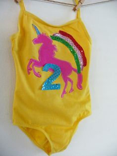 Unicorn birthday leotard