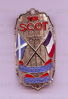 Flying Scot Crossed Flags Headbadge.