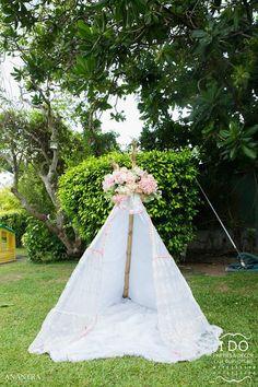 Teepee tent from a Secret Garden Birthday Party on Kara's Party Ideas | KarasPartyIdeas.com (28)