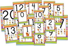 Jungle Safari Themed Numbers 0 to 20 Posters - These number posters 0 to 20 will make your classroom roar-rific! $2