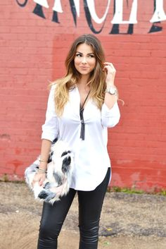 How to make a simple white blouse sexy with www.themeghanjones