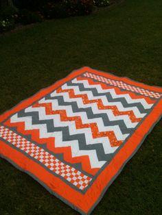 Tennessee Volunteer inspired quilt.