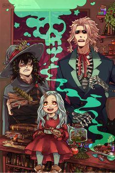 Shoto Aizawa, Eri & Toshinori Yagi (My Hero Academia) Anime Halloween, Halloween Icons, Halloween Art, Happy Halloween, Me Anime, Anime Art, Boku No Hero Academia, Aizawa Shouta, Hero 3
