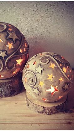 Cement Crafts, Clay Crafts, Ceramic Pottery, Ceramic Art, Paper Clay Art, December Challenge, Keramik Design, Ceramic Candle Holders, Hand Built Pottery