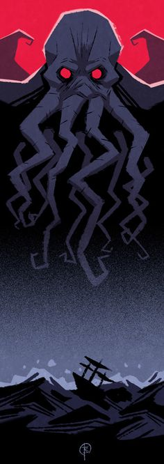 FHTAGN & TENTACLES - CALL OF CTHULHU BOOKMARK by Marc Black
