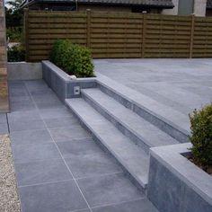 blue stone scraped Modern Stairs Blue scraped stone blue stone scraped Modern S… - Back yard patio