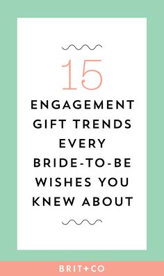 20 Engagement Gift Trends Every Bride-to-Be Wishes You Knew About - Tie the Knot - Engagement Rings Thoughtful Engagement Gifts, Engagement Gift Baskets, Engagement Gifts For Bride, Personalized Engagement Gifts, Engagement Presents, Engagement Rings, Gifts For Engaged Friend, Best Friend Gifts, Best Wedding Gifts